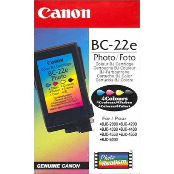 Originalna tinta Canon BC22e Photo 4colour