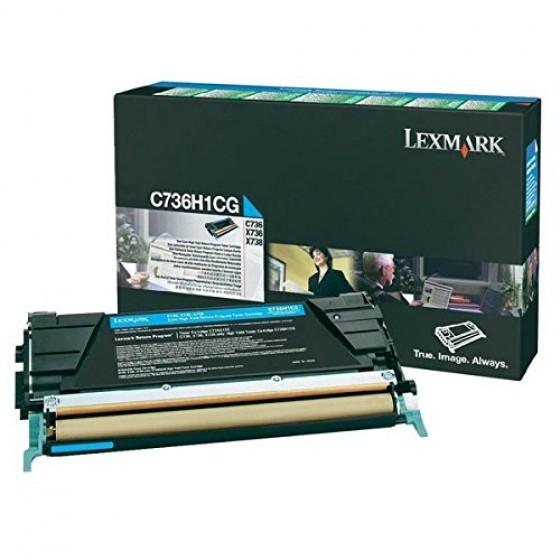 Originalni toner Lexmark C736/X738, C736H1CG C 10K