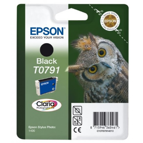 Originalna tinta Epson T0791 Bk