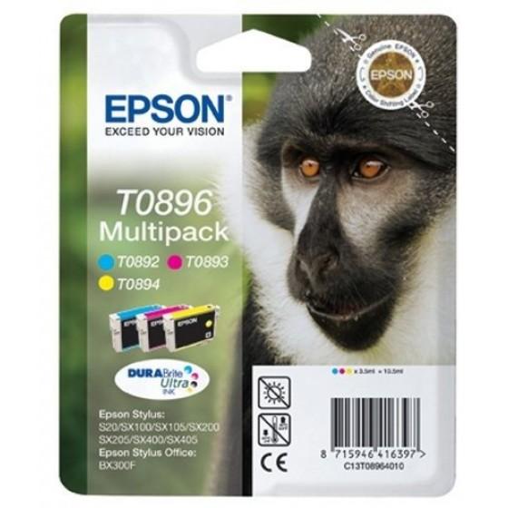 Originalna tinta Epson T0896 Multipack C,M,Y