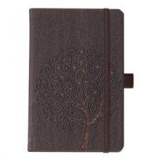 Notes Ivory 19x25cm crte s gumicom Tree N0-377 smeđi