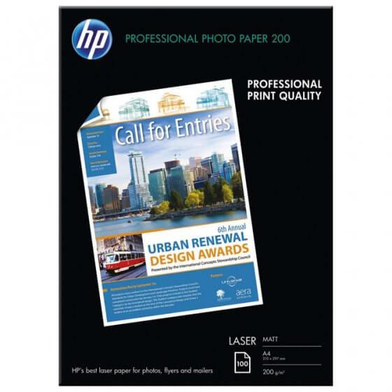 Papir Laser foto mat 200g A4 pk100 HP.Q6550A