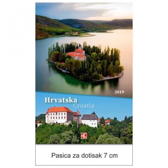Kalendar Hrvatska 2019 13 listova, spirala